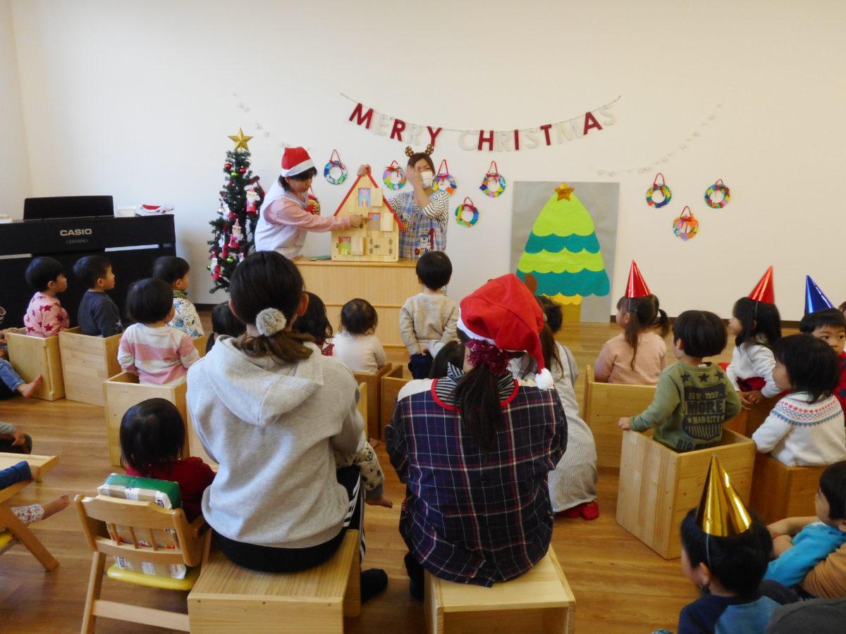 いなみ虹保育園でクリスマス会をしました。