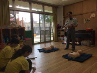応急処置について学びました!