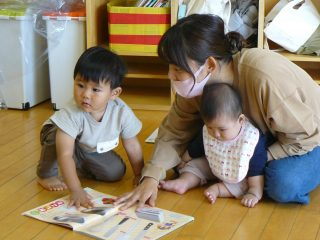令和2年度後期親子教室ルンルン(0歳児)が始まりました!!