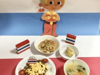 今月のお誕生日会のメニューはタイ料理です!