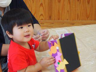 支援センター虹🌈ランラン🔵1歳児コース🔵ハロウィン制作