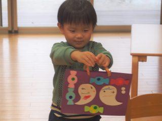 支援センター虹🌈サンサン🔴2歳児コース🔴ハロウィン制作